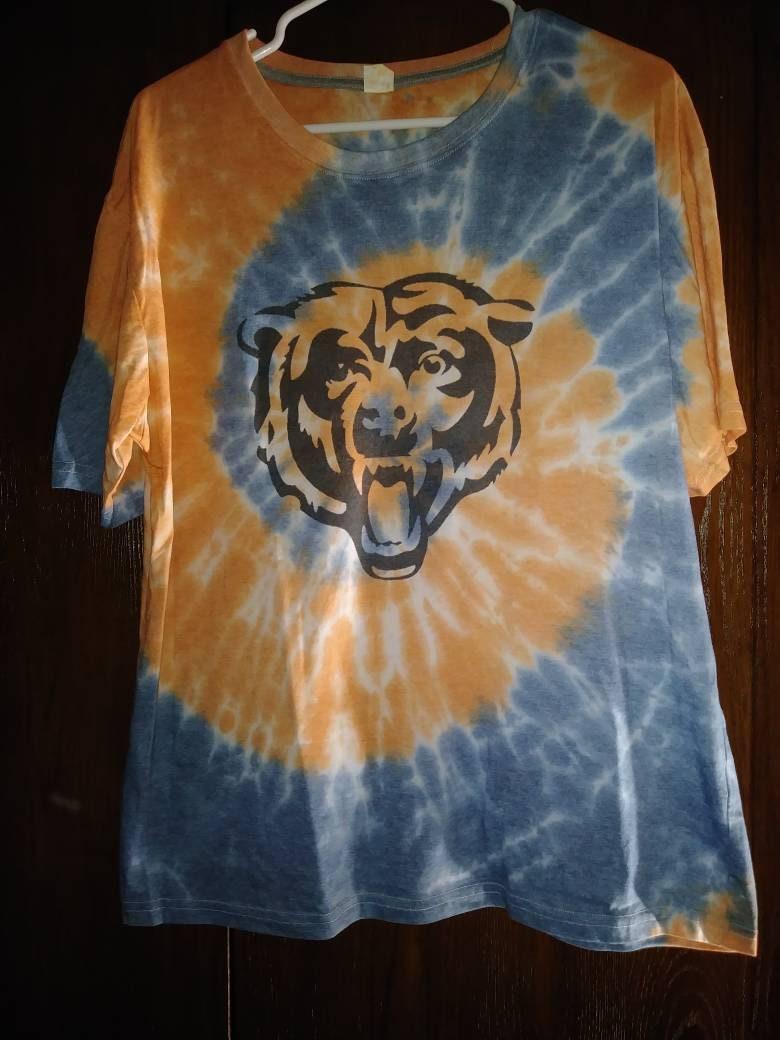 Chicago Bears Tie Dye T Shirt Etsy