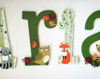 Woodland Theme Letters