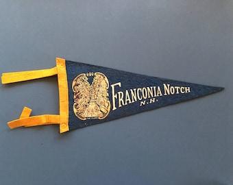 Small Vintage Felt Franconia Notch N.H. Pennant
