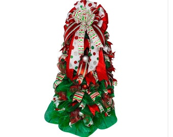 Tomato Cage Tree, Small Decorated Christmas Tree with Lights, Apartment Nursing Home Holiday Decor