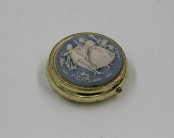 pink Pill Container Gift for her cameo round pill case mint case 1727 Cameo Pill Case Pill Case