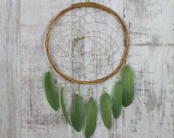Green Wall Hanging Dream Catcher - Boho Dream Catcher Wall Hanging with 20 colour choices!