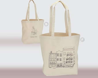 Canvas Tote Bags. Home Urban Architecture Theme