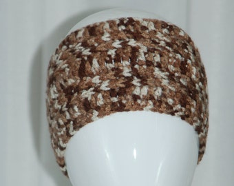Crochet Brown / Beige Tones Headband