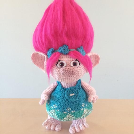 Poppy Trolls Amigurumi Crochet Pattern Etsy Adorable Trolls Crochet Pattern