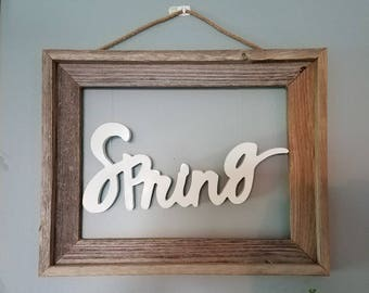 Rustic Spring Sign, Wood Spring Sign