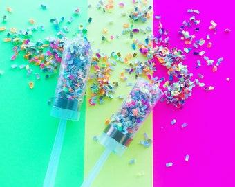 Rainbow Swirl Confetti Popper