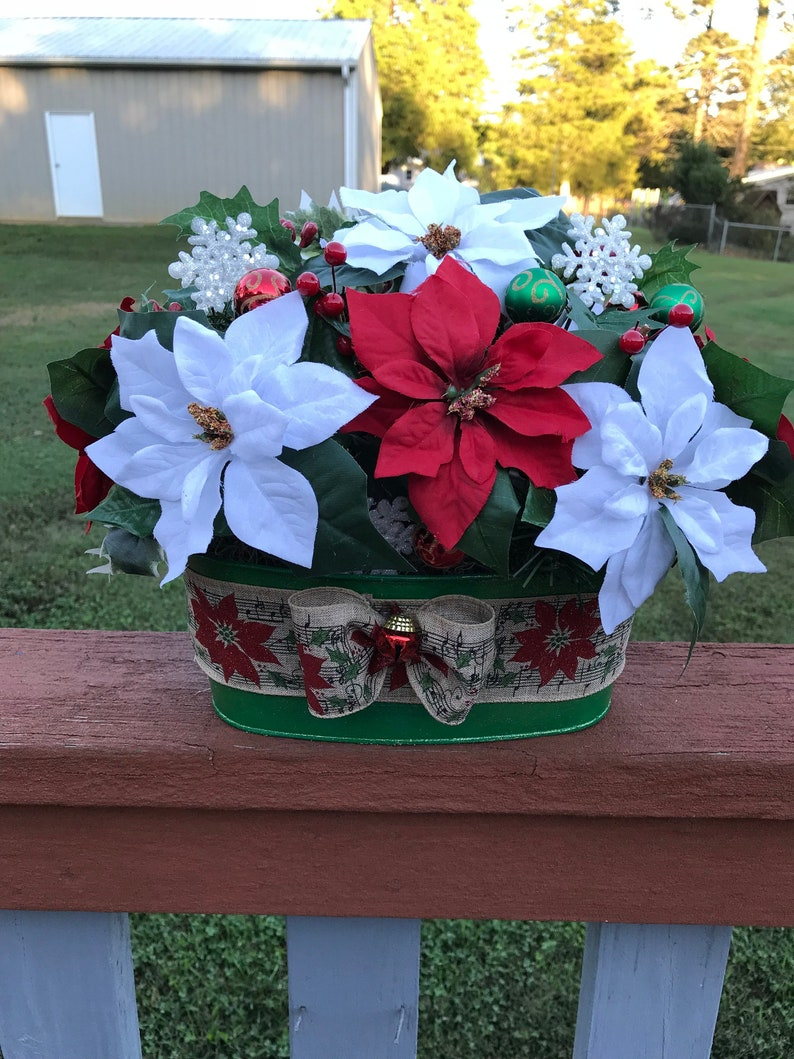 Christmas Table Arrangement With Lights Holiday Table Decor Etsy