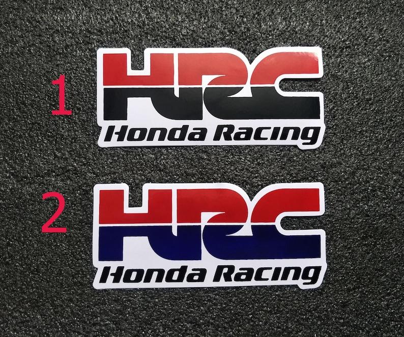 Sticker Hrc Honda Racing Die Cut Vinyl Decal Logo Sport Etsy