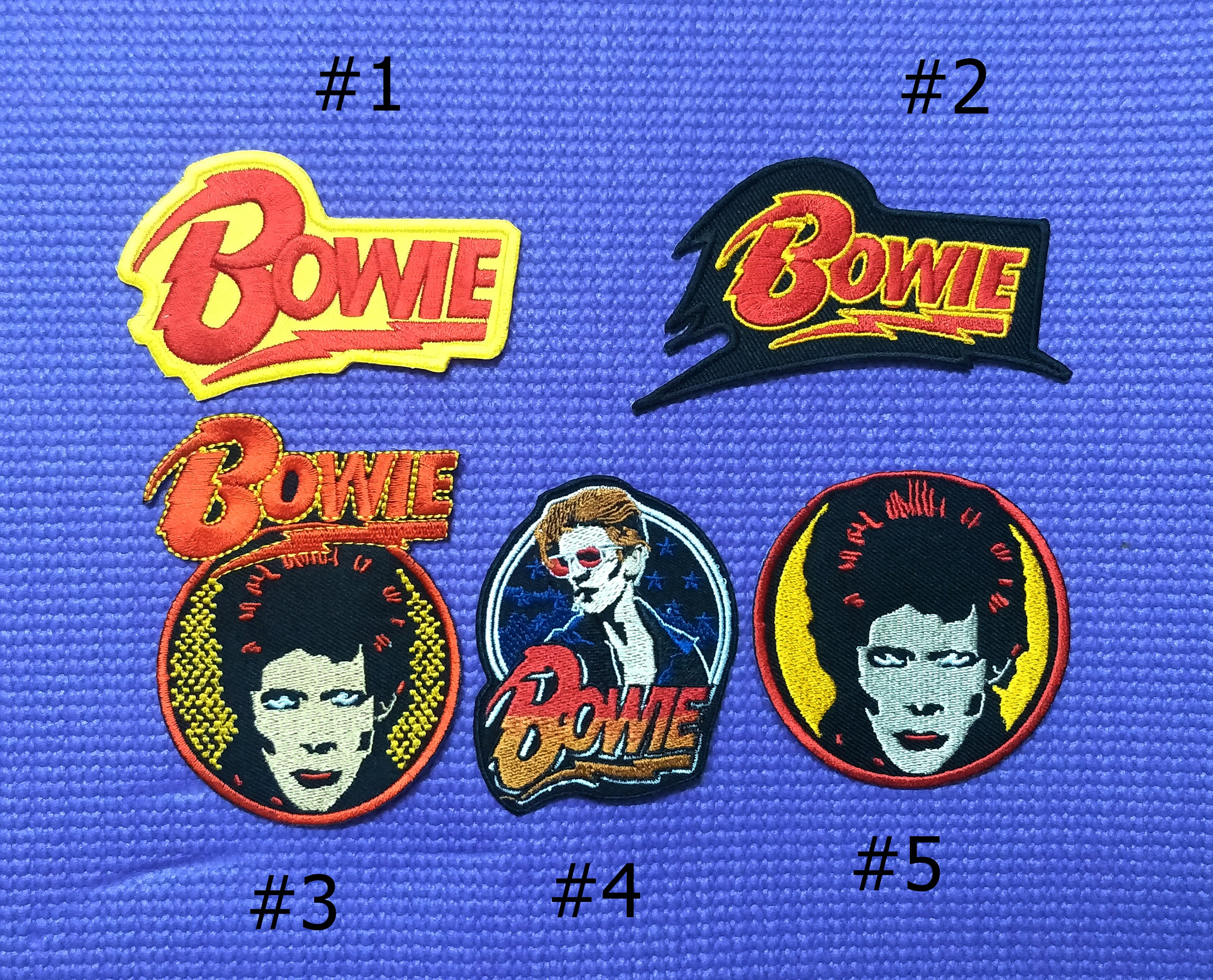 """4/"""" Iron-on Rock Music Band Embroidered Bowie patches David Bowie PATCH"""