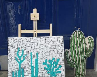 Cactus wall art, Cactus painting, cactus home decor
