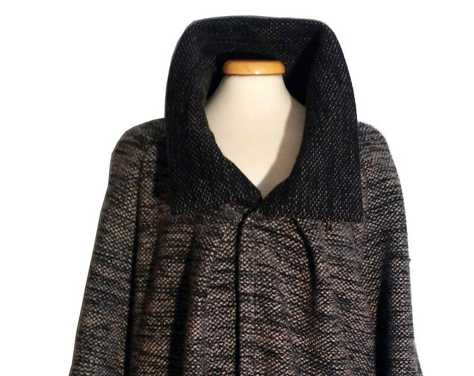 Featured listing image: Egg coat, maxi neck, pure wool