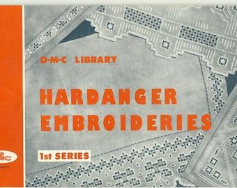 Hardanger Embroideries 1 st series DMC 1962 Het klassieke -Engelstalige!!!-  boek  van het Noorse Hardanger borduren.