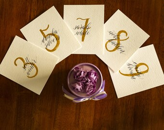 Wedding place cards / Calligraphy place cards / special events / custom place cards / Wedding calligraphy watercolor