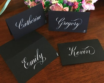 Wedding place cards / Calligraphy place cards / special events / Wedding calligraphy / custom place cards / Copperplate