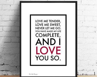 Sweat Love me tender / Love me true / size L / Unisex Z44zo8J