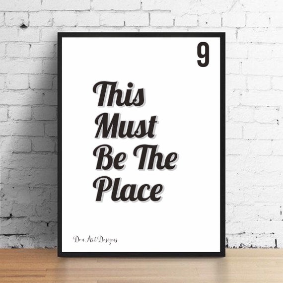 80s Talking Heads Inspired This Must Be The Place Lyrics   Etsy