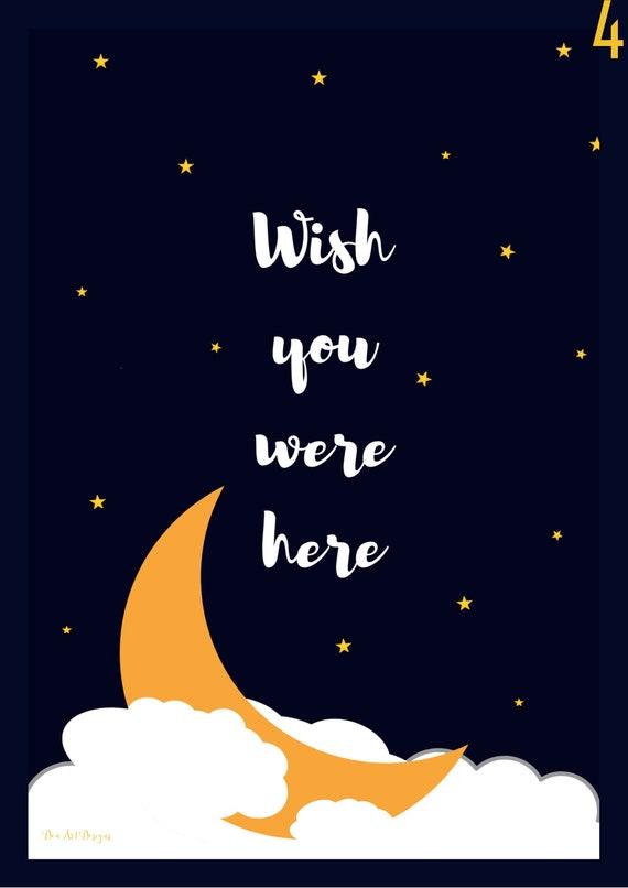 Pink Floyd Inspired - Wish You Were Here, Lyrics Print   Birthday/Valentines/Wedding/Housewarming gift  home decor Poster  Music  Wall Art