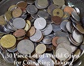 Bulk World Coins 50 piece coin lot for making coin rings