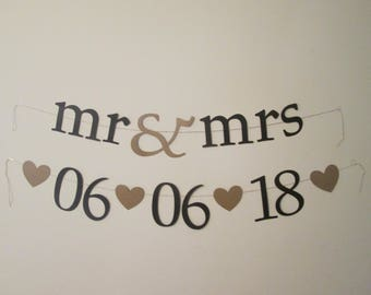 Custom Mr. and Mrs. dated banner