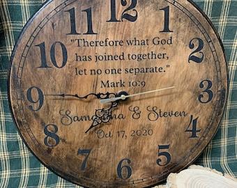 Custom Handmade Wood Clock- Multiple Sizes and Finishes