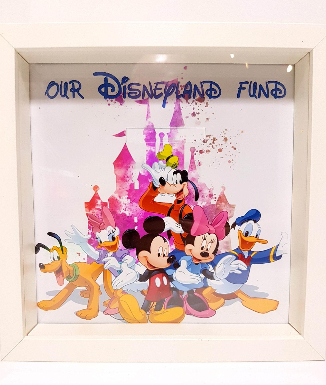 Disneyland-Spardose Rahmen Disney / Spardose speichern / | Etsy