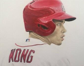 ORIGINAL - Kolten Wong Drawing