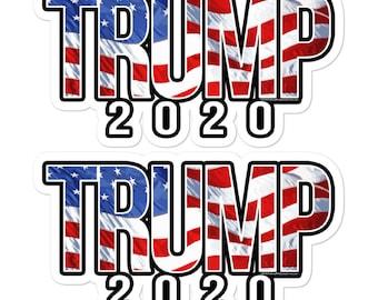 """AMERICA FIRST Trump Republican Conservative Bumper Sticker Decal 2 pack 7.5/"""""""