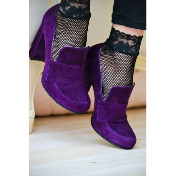 Kendra Women's Deep Purple Suede High