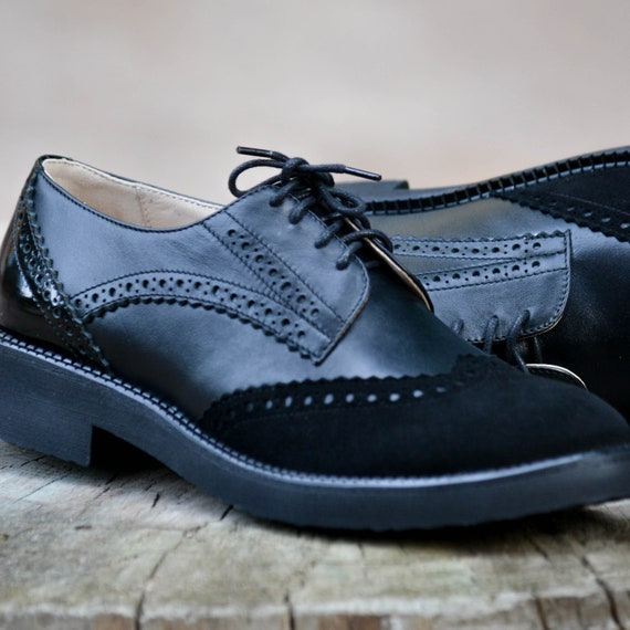 b1b52045c5 Charlie Black Women's Handmade Genuine Leather Suede | Etsy