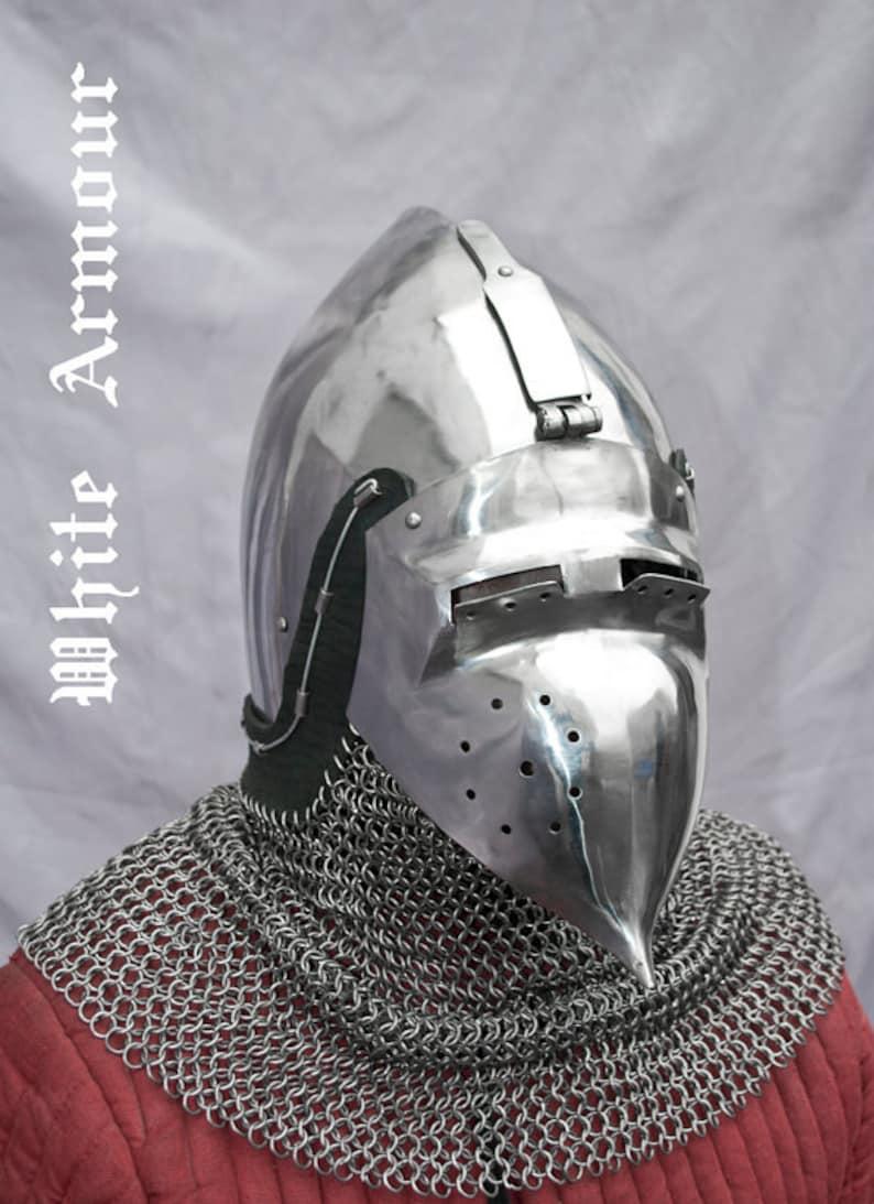 Combat helmet klappvisor bascinet SCA LARP medieval helmet fantasy helmet  sca helmet larp helmet sca bascinet medieval bascinet sca armor