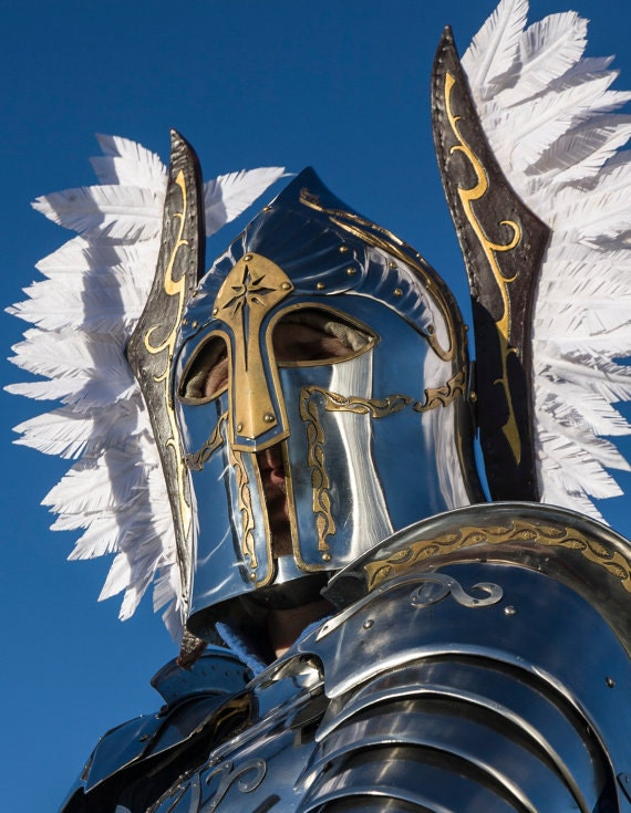 Knives Swords Blades Medieval Lotr Gondor Helmet Fountain Guard Sca Larp Armor Wings Viking Helmet Collectibles Explast Mu