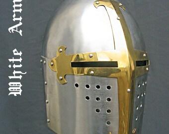 Sugar Loaf Helmet SCA helmet  LARP helmet  medieval helm Medieval armor Fantasy helmet Medieval helmet Steel armor Fantasy armor great helm