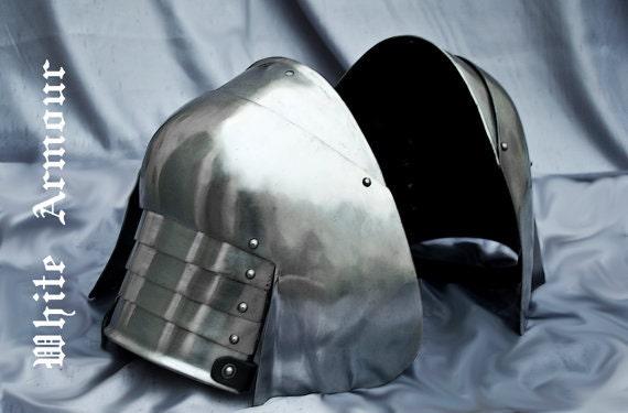 Pauldrons basic combat armor with small besagews SCA LARP armor pauldrons  spaulders SCA armor larp armor Fantasy armor stell armor