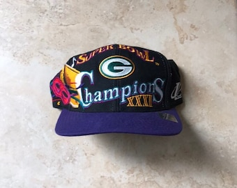 96cd9b50a9ed94 1996 Super Bowl XXXI Superbowl 31 Green Bay Packers Champions Snap Back