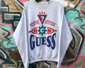 VTG Guess BTLG Crew New Sweater Vintage 1990s