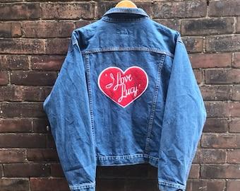 b0b0513fb16b I Love Lucy Denim Jacket Vintage