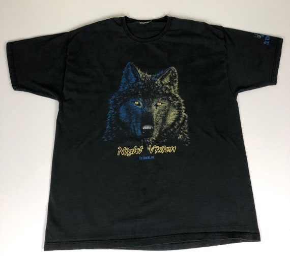 90's Wolf Night Vision T Shirt Vintage 1990s