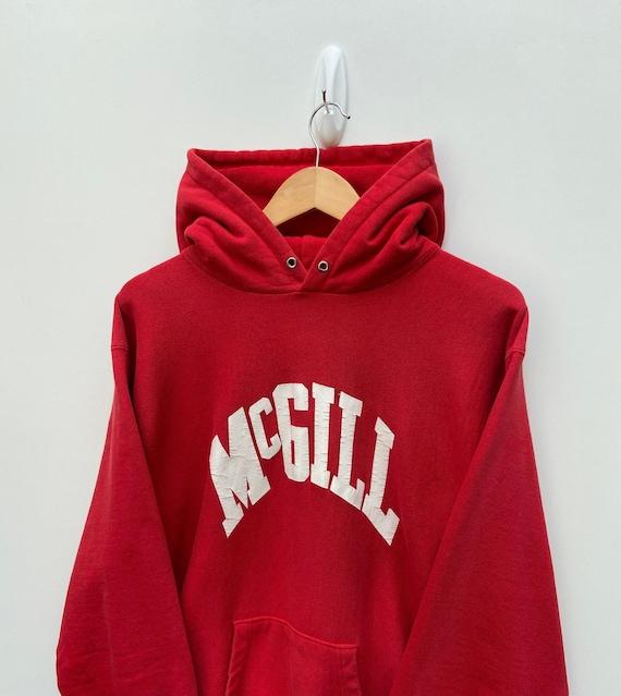 80's Champion Reverse Weave Hoodie McGill Universi