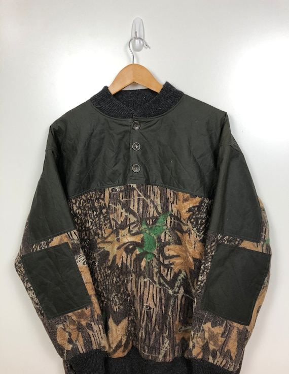 90's Camouflage Sweater Vintage 1990s