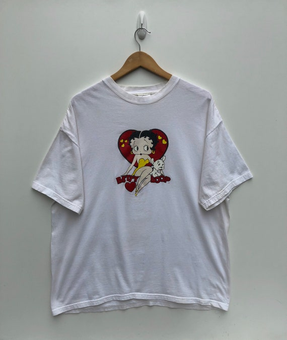Vintage Betty Boop White T Shirt 2000's