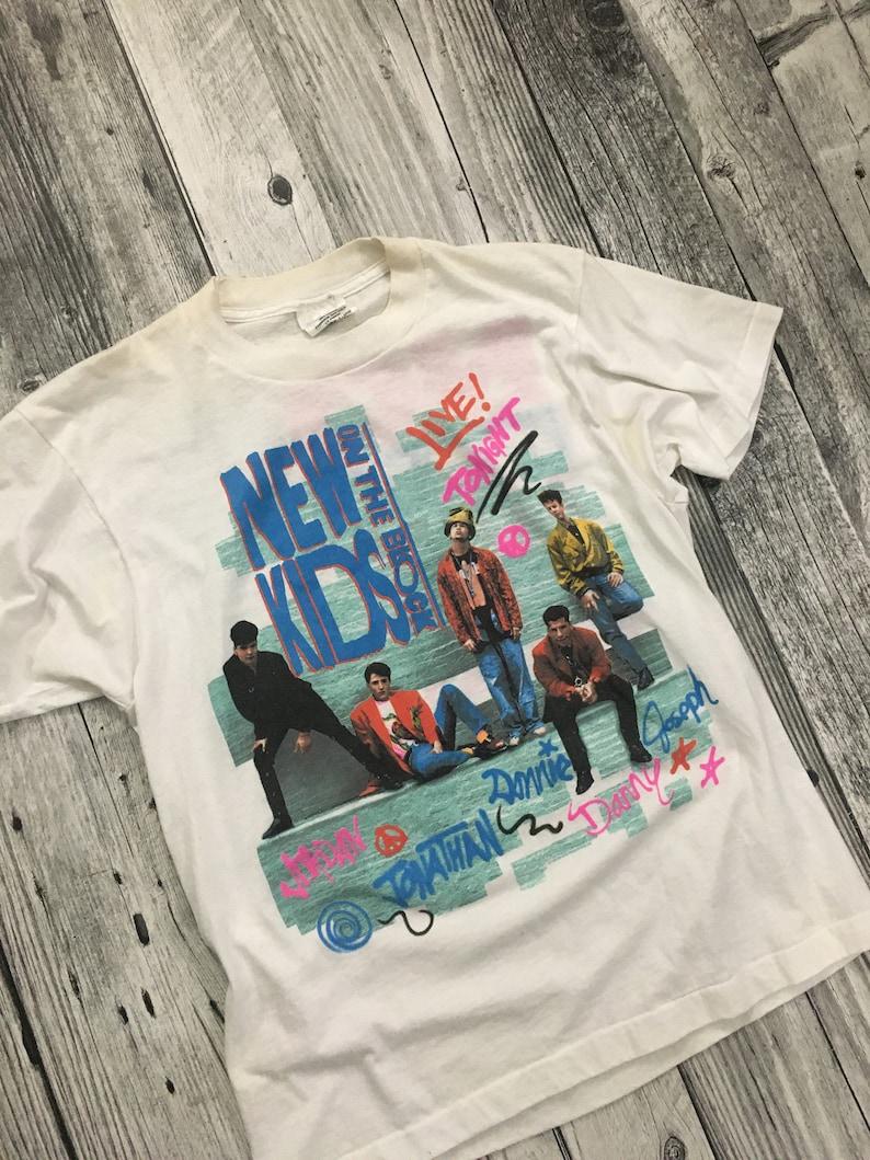 90\u2019s New Kids On The Block No More Games Tour Tee Shirt Vintage 1990\u2019s
