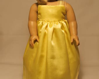 Yellow Dress-Made to fit 18 inch Dolls like American Girl Doll Clothes