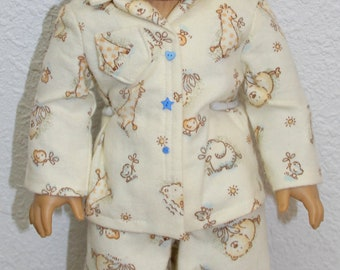 Pajamas-Made to fit 18 inch Dolls like American Girl Doll Clothes