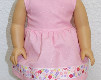 Pink Dress-Made to fit 18 inch Dolls like American Girl Doll Clothes