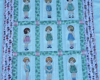 Paper Dolls quilt completed with clothing