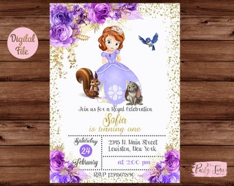 Sofia The First Invitation Template from i.etsystatic.com