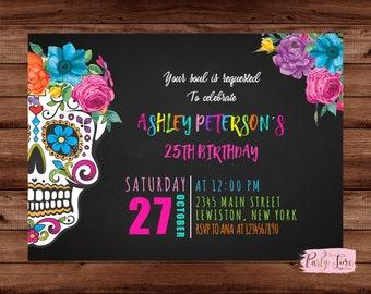 Skull Invitation Etsy
