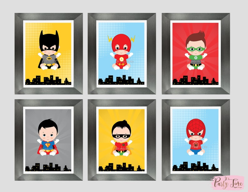 Superhero wall art superhero bedroom decor Dorm Wall Art | Etsy