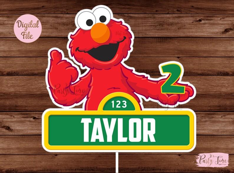 Elmo Centerpiece - Sesame Street Cake Topper - Sesame Street Centerpiece -  Printable Elmo Cake Topper - Sesame Street Wall Decor - DIGITAL